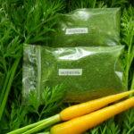 Морковь, зелень